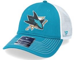 San Jose Sharks Primary Logo Core Teal/White Trucker - Fanatics
