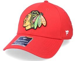 Chicago Blackhawks Primary Logo Core Velcro Strap Red Adjustable - Fanatics