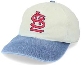 St. Louis Blues Old School Mlb Vintage Beige/Blue Dad Cap - Twins Enterprise