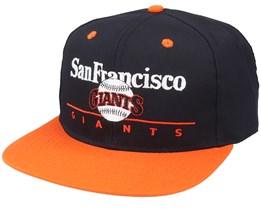New York Giants Classic Mlb Vintage Black/Orange Snapback - Twins Enterprise