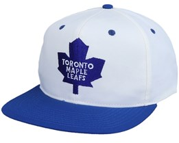 Toronto Maple Leafs Base Logo Two Tone NHL Vintage White/Blue Snapback - Twins Enterprise