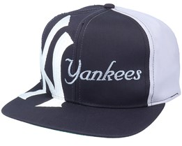 New York Yankees Big Text MLB Vintage Navy/Grey Snapback - Twins Enterprise