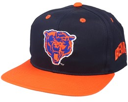 Chicago Bears Base Two Tone NFL Vintage Black/Orange Snapback - Twins Enterprise