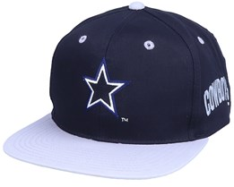 Dallas Cowboys  Base Two Tone NFL Vintage Navy/Grey Snapback - Twins Enterprise
