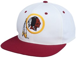 Washington Football Team Washington Redskins Base Two Tone Nfl Vintage White/Red Snapback - Twins Enterprise