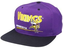 Minnesota Vikings Classic NFL Vintage Purple/Black Snapback - Twins Enterprise