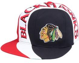Chicago Blackhawks Allover NHL Vintage Black/Red Snapback - Twins Enterprise