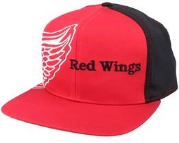 Detroit Red Wings Big Logo NHL Vintage Red/Black Snapback - Twins Enterprise
