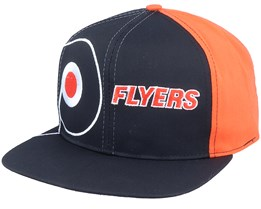 Philadelphia Flyers Big Logo NHL Vintage Black/Orange Snapback - Twins Enterprise