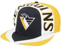 Pittsburgh Penguins Allover2 NHL Vintage Black/Yellow Snapback - Twins Enterprise