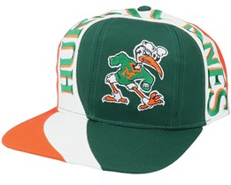 Miami Hurricanes Vortex College Vintage Green/Orange Snapback - Twins Enterprise