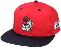 Georgetown Hoyas Dawgs Angry Spirit College Vintage Red/Black Snapback - Twins Enterprise