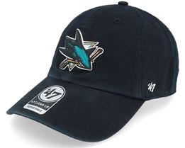 San Jose Sharks Clean Up Black Adjustable - 47 Brand