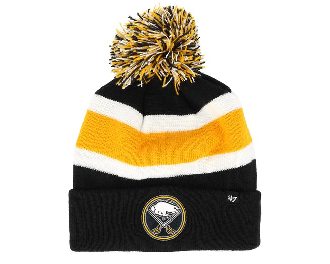 285141b6 Buffalo Sabres Breakaway Knit Yellow/Navy Pom - 47 Brand beanies ...