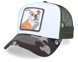 Butch Baseball Trucker - White/Olive/Camo Trucker - Goorin Bros.