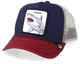 Big Shark Navy/Red/Beige Trucker - Goorin Bros.