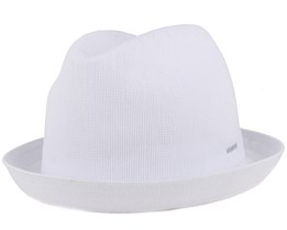 Tropic Player White Fedora - Kangol
