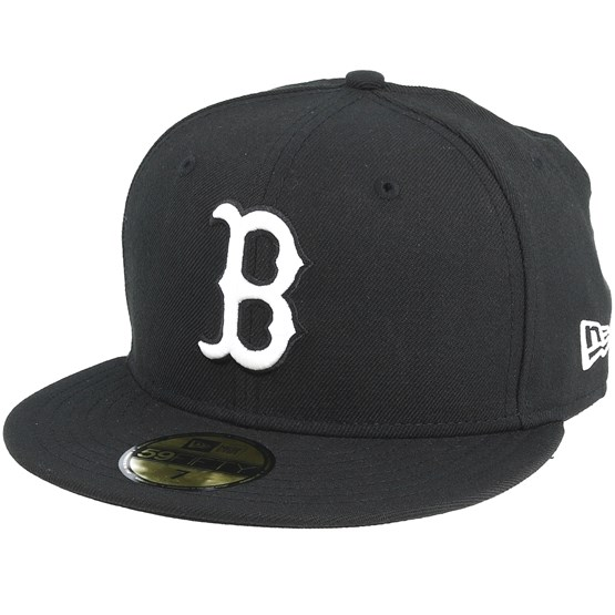Keps Boston Red Sox MLB Basic Black/White 59Fifty - New Era - Svart Fitted