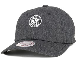 Brooklyn Nets Melange Black Adjustable - Mitchell & Ness