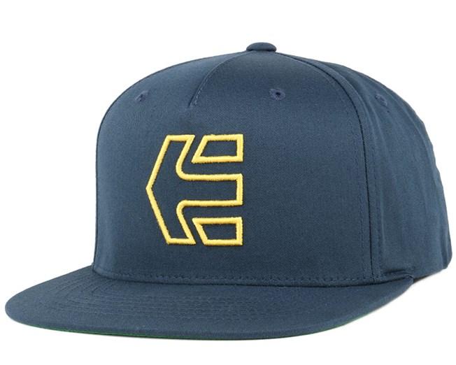 Icon 7 Navy Yellow Snapback - Etnies cap - Hatstore.co.in 80bc0814ef4c