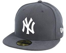 NY Yankees MLB Basic Graphite/White 59Fifty - New Era