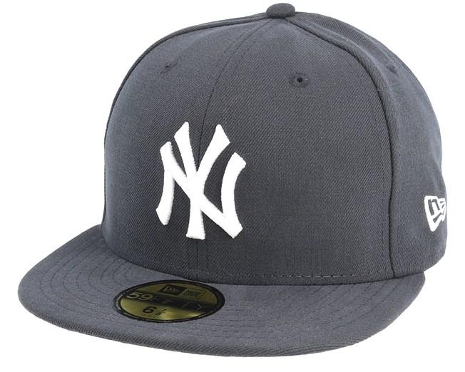 new product 66d7a 00065 NY Yankees MLB Basic Graphite White 59Fifty - New Era caps -  Hatstorecanada.com