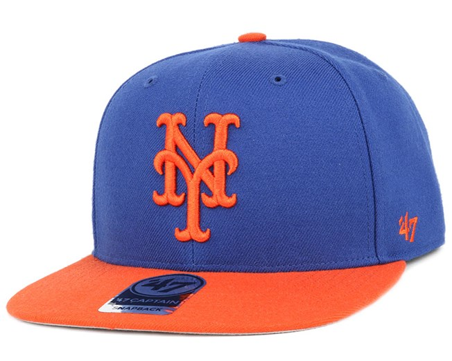 NY Mets Sure Shot 2 Tone Blue Orange Snapback - 47 Brand - Start ... 0c184dab7d2