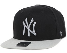 NY Yankees Sure Shot 2 Tone Black/Grey Snapback - 47 Brand