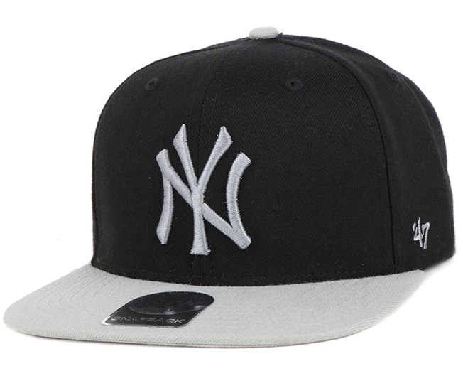 95e146b0eb1 NY Yankees Sure Shot 2 Tone Black Grey Snapback - 47 Brand caps ...