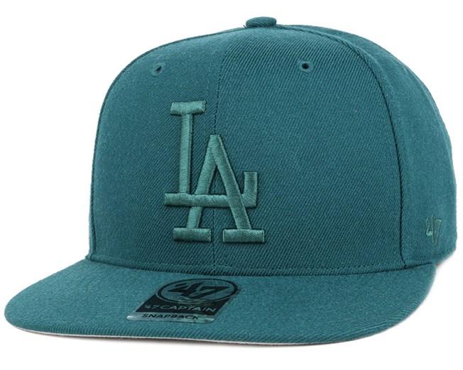 LA Dodgers No Shot Captain Pacific Green Snapback - 47 Brand caps ... 8c1ca2baf42c