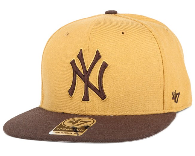 affordable price sale usa online los angeles NY Yankees No Shot 2 Tone Captain Wheat Snapback - 47 Brand caps ...