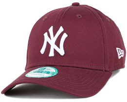 NY Yankees League Essential Maroon 940 Adjustable - New Era