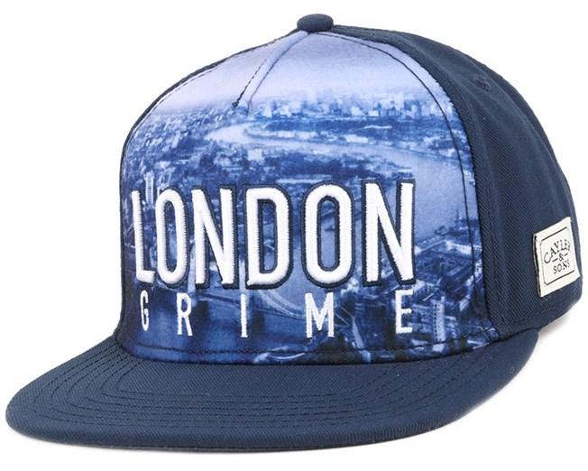 London Skyline Navy Snapback - Cayler & Sons