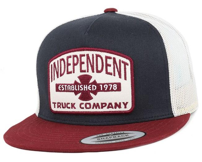 Garage Mesh Indigo Oxblood Snapback - Independent caps  a8c94a5849a3
