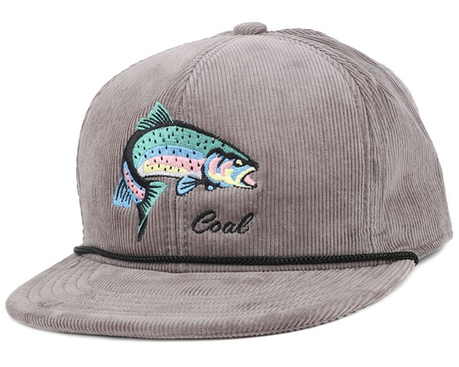 3d3901ab233b7 The Wilderness Grey Fish Snapback - Coal caps - Hatstorecanada.com