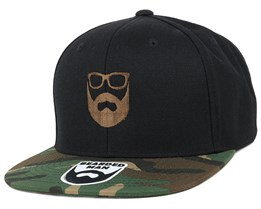 Logo Black/Camo Snapback - Bearded Man