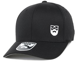 Side Logo Black Flexfit - Bearded Man