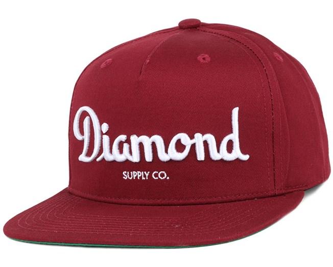 best cheap f234c ce3c4 Champagne Burgundy Snapback - Diamond