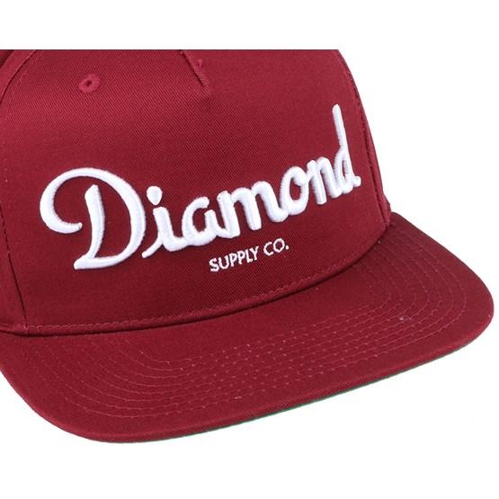 online store b95de 2be65 Champagne Burgundy Snapback - Diamond caps - Hatstoreworld.com
