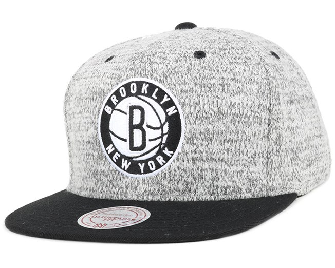 2e918936c96bb Brooklyn Nets Grey Duster Snapback - Mitchell & Ness caps | Hatstore ...