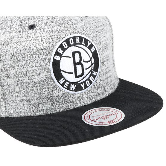 29d9129722358 Brooklyn Nets Grey Duster Snapback - Mitchell & Ness caps | Hatstore.co.uk