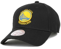Golden State Warriors Low Pro Black Adjustable - Mitchell & Ness