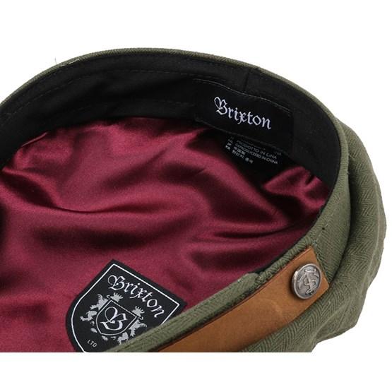 493ad9982a100 Fiddler Dark Olive Flat Cap - Brixton caps - Hatstorecanada.com