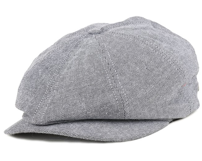 fa392aa991c92 Brood Light Blue Stripe Flat Cap - Brixton caps | Hatstore.co.uk