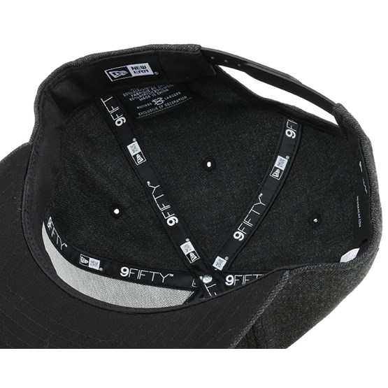 new styles ca3d5 768df Heather Gel Fill Black 9Fifty Snapback - New Era caps - Hatstoreworld.com