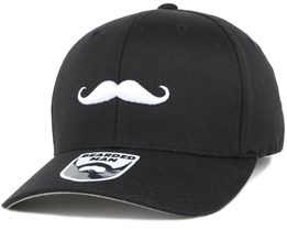 Mustache Logo Black Flexfit - Bearded Man