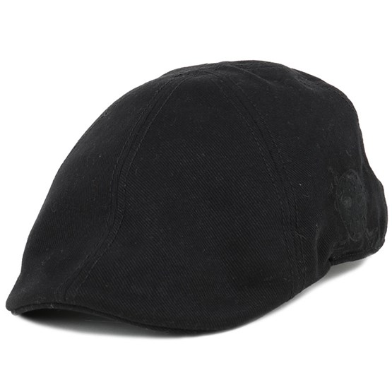Keps Texas Brushed Twill Black Flat Cap - Stetson - Svart Flat Caps