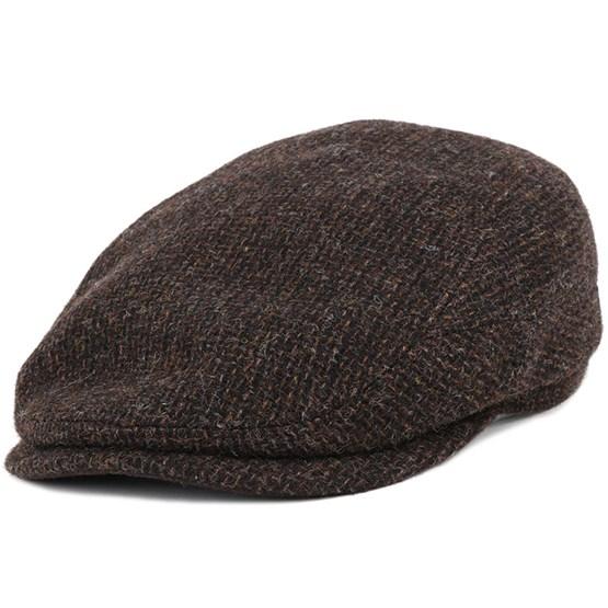 Keps Driver Cap Wool Brown Flat Cap - Stetson - Brun Flat Caps
