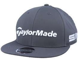 20 Tour Flat Bill Charcoal/White Snapback - Taylor Made
