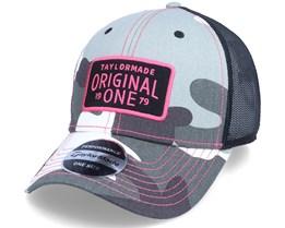 Tm21 Womens Camo Black Pink Trucker - Taylor Made